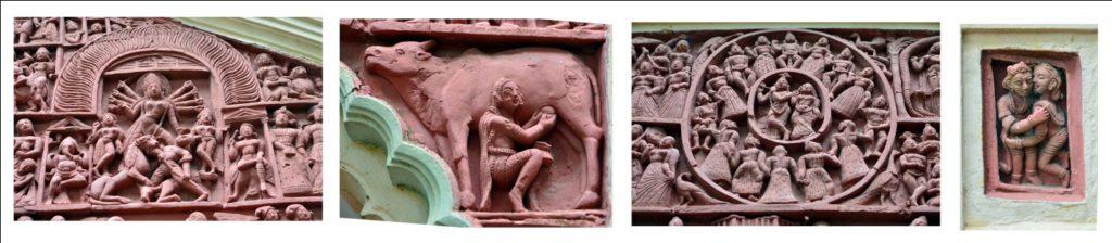 Rich Terracota works of Lakshmi Janardan Temple