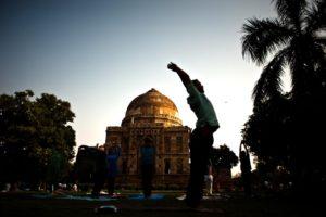 Bada Gumbad of the Lodi gardens in Delhi