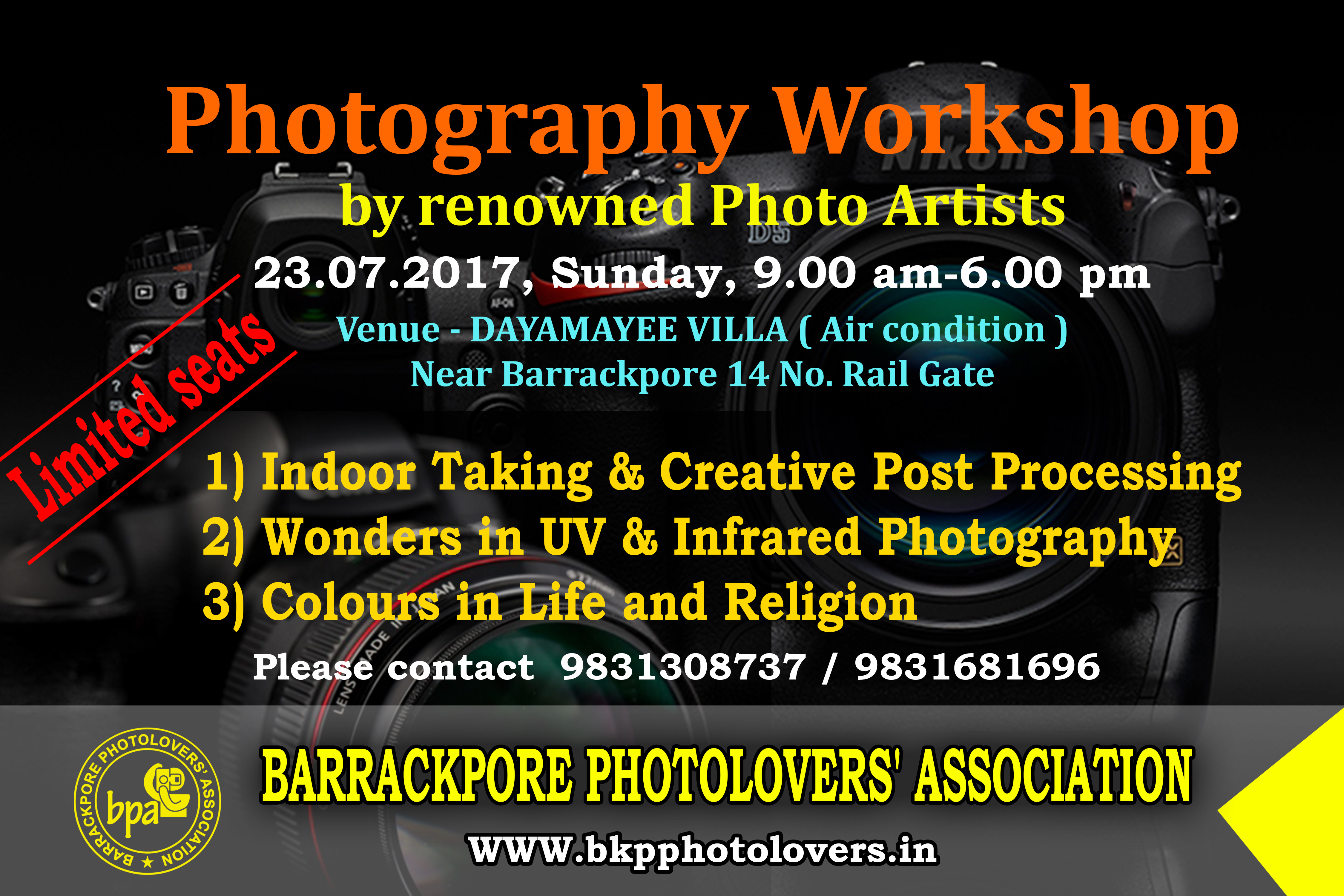 Photography Workshop 23 July 2017