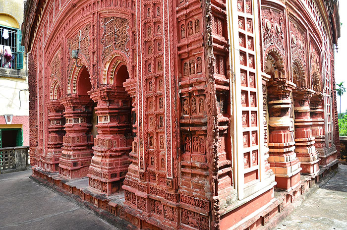 Five Pinnacled Terracota Temple, Gopinath, Dasghara